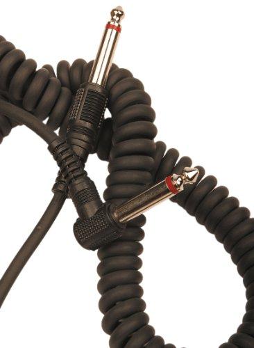 Rotosound Instrumentenkabel Spiral-Kabel mit Winkelklinke