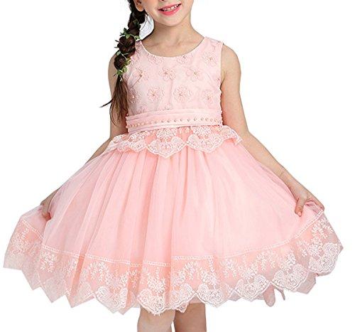 Blumenmädchenkleid Hochzeitskleid Kindergeburtstags Party KleidRosa100