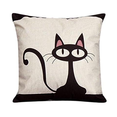 kolylong schön Katze Muster Werfen Kopfkissenbezug Kissenbezug Liegesessel Sofa Zuhause