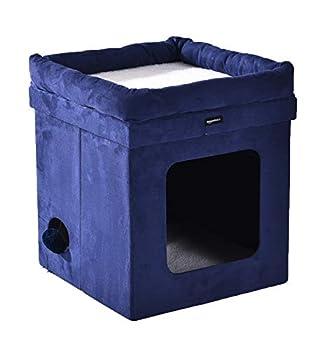AmazonBasics Niche pliable pour chat, Bleu