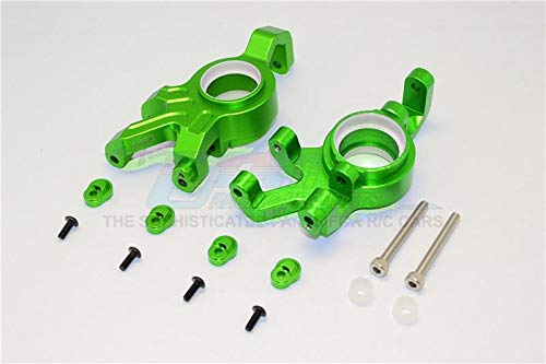 Traxxas X-Maxx 4X4 Tuning Teile Aluminium Front Knuckle Arms with Collars - 1Pr Set Green