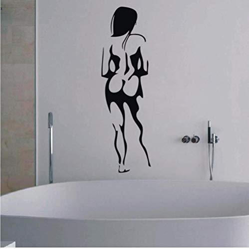 Wandaufkleber, Europa Nackte Frauen Porträt Wasserdicht Vinyl Wandtattoo Aufkleber Für Bad Glas Bar Ktv Dekoration 100X30 Cm