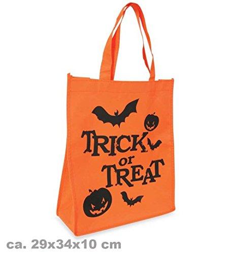 Halloween Tasche groß Halloweentasche mit Aufdruck orange