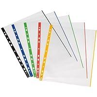 Herlitz 10914414 - Paquete de 50 portafolios de plástico A4, multicolor