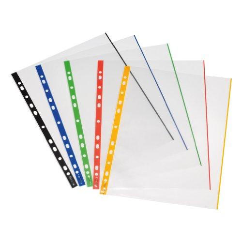 herlitz-10914414-paquete-de-50-portafolios-de-plastico-a4-multicolor