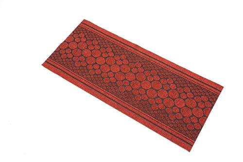 William Armes Dandy Kork-Läufer, extra lang, strapazierfähig, 300 x 67 cm, Rot (Britische Baumwoll-teppich)