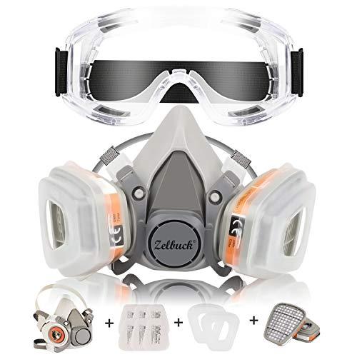 Respirador CofflyTM Máscara Gas Reutilizable Gafas