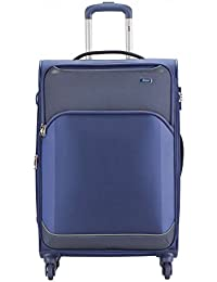 VIP Beat Pulse 81 Cm Polyester Soft Sided Checkin Luggage - Trolley/Travel/Tourist Bags (Blue)