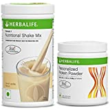 Herbalife pack of Foumula 1 nutritional Shake Mix (Vanilla) & personalized protein powder