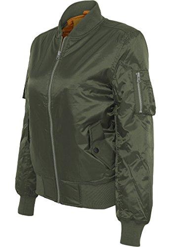 Urban Classics Damen Jacke Ladies Basic Bomber Jacket Olive