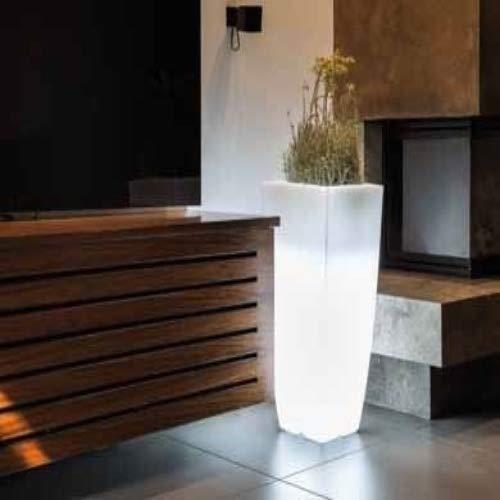 vaso quadro 'stilo lamp' con luce interna. in polietilene colorato. dal design elegante in puro stile moderno, È un ottimo complemento d'arredo e si abbina a molteplici ambienti nei quali viene collocato.