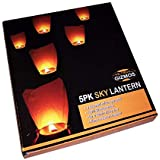 InFerro Full Size Sky Lanterns Eco-Friendly Flying Candle/Paper Wish Lamp Multicolored (Pack Of 10)