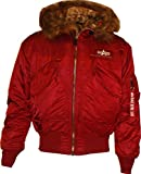 Alpha Industries Herren Jacken/Winterjacke 45P Hooded Custom (Red, L)