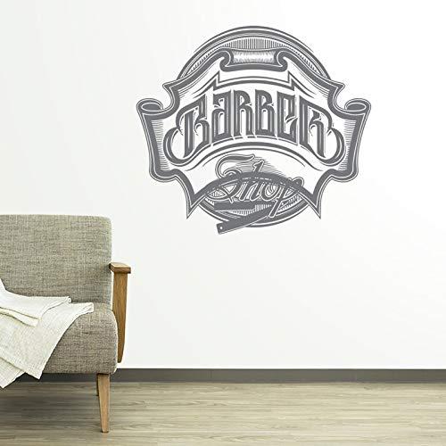 mann barber - shop aufkleber haarschnitt rasierapparate plakate brot aufkleber vinyl wand kunst...