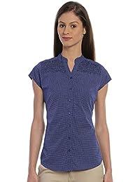 Bombay High Women's 100% Cotton Printed Polka Dot Office Wear Shirt