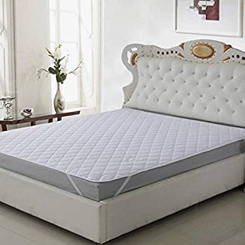 Supreme Home Collective Double Bed Dust Proof and Waterproof Microfiber Mattress Protector (72 x 78 Inches, White)