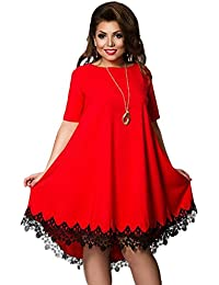 Robe rouge fluide grande taille