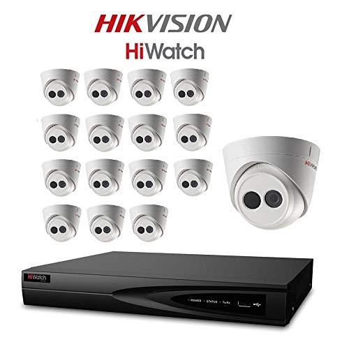 hiwatch von HIKVISION 1080P HD-tvi Sicherheit Kamera System mit 16CH HD DVR und 16x 2.1Megapixel 1920x 1080P CCTV Turret Kamera, Kit (Dvr 16 Ch)
