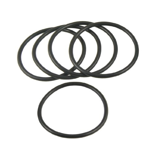 sourcingmap 5 Pcs 60mm x 3.5mm x 53mm Flexible Gummi O Ring Dichtung Waschmaschine Schwarz