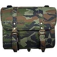 SaharaSeats Army Saddle Bag for Royal Enfield (All Models) & Bajaj Avenger (All Models) (Camouflage)