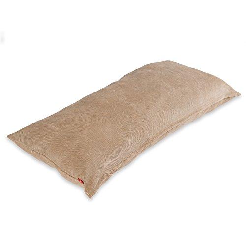 baibu Einfach Dekorativ Sofa Kissenbezug Kissenhülle mit verdecktem Reißverschluss aus Kord, 40x80cm Khaki