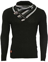 Redbridge Designer Herren Strickpullover hoher Kragen Norweger Pullover Men´s R-41513