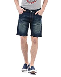 IZOD Mens Cotton Shorts (8907259733968_ZMST0026_30_Black)