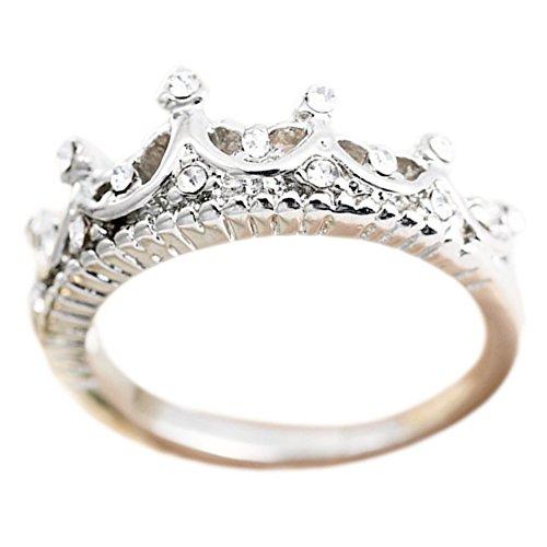 Hosaire Ringe Mode Diamant-Kronen Offener Ring Schmuck Zubehör für Freunde, Liebhaber Geburtstags Geschenk (#9)