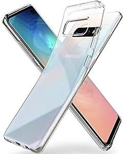 Spigen Coque Galaxy S10, Coque S10 [Liquid Crystal] Ultra Mince Premium TPU Silicone/Transparent/Flexible/Anti-Trace Souple Coque Housse Compatible avec Samsung Galaxy S10 - [Crystal Clear]