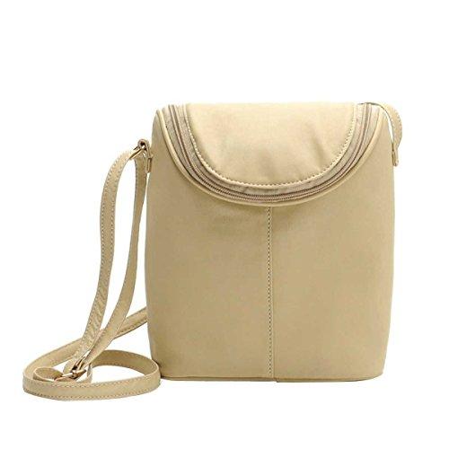 Messenger Bag Semplice Borsa Tracolla In Pelle Secchio Donne Dell'unità Di Elaborazione Della Moda creamcolor