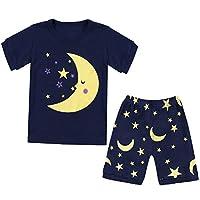 Qtake Fashion 1-12 Years Girls Pajamas Children Moon Clothes Set 100% Cotton Little Kids Pjs Sleepwear