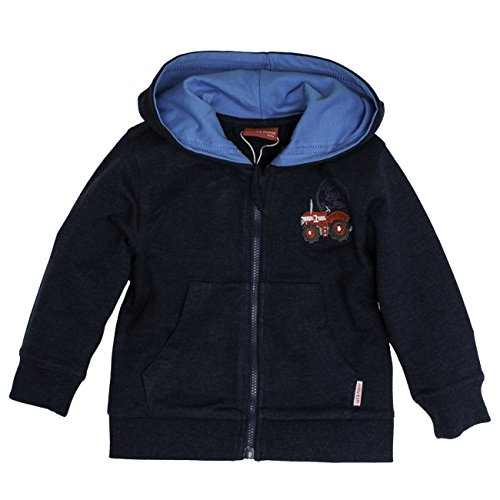 SALT AND PEPPER Baby-Jungen Jacke B Jacket Little Farm, Blau (Denim Blue Melange 493), 86
