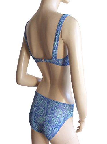 Solar Tan Thru Bügel-Bikini 8601554-65 blue/turquoise, B-Cup oder D-Cup blau/türkis gemustert