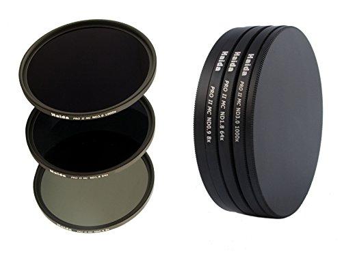 PRO II Digital MC Neutral Graufilter Set bestehend aus ND8, ND64, ND1000 Filtern 46 mm inkl. Stack...
