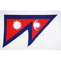 BANDERA de NEPAL 150x90cm - BANDERA NEPALÍ 90 x 150 cm - AZ FLAG