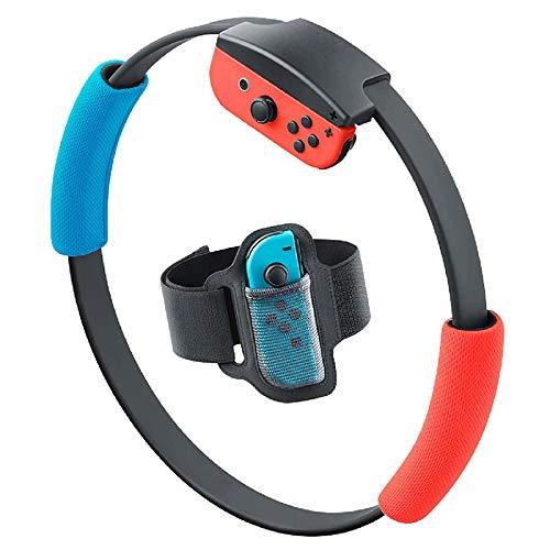 YIDADIAN Fitnessring mit verstellbarem Riemen 2 Griffe Anti-Rutsch Ring-mit Sport Musik-Gruppe Avventura für Nintendo NS Joycon