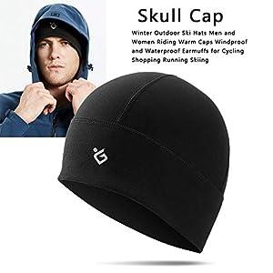 Beanie Atmungsaktivem Skimütze Winter Outdoor Mütze Winddicht Skull Cap Mütze Fahrrad Helm Kopfbedeckung Laufen Ski-Fahren Snowboard Joggen Damen Unterziermütze