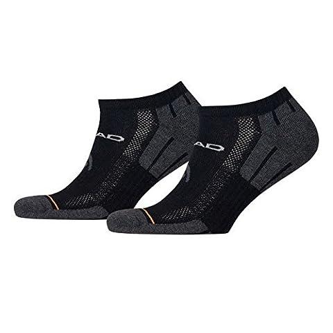 HEAD Unisex Performance Sneaker Sportsocken 6er Pack, Größe:43-46;Farbe:black