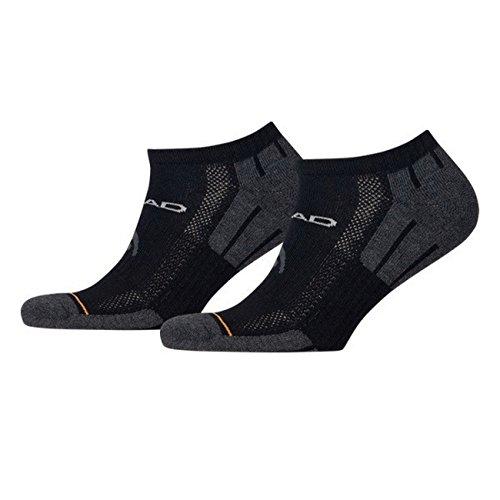 HEAD Unisex Performance Sneaker Sportsocken 6er Pack, Größe:43-46;Farbe:black - Performance Sneaker