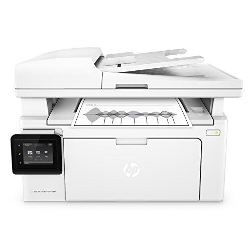 HP LaserJet Pro M130fw Laserdrucker Multifunktionsgerät (Drucker, Scanner, Kopierer, Fax, WLAN, LAN, Airprint) weiß -
