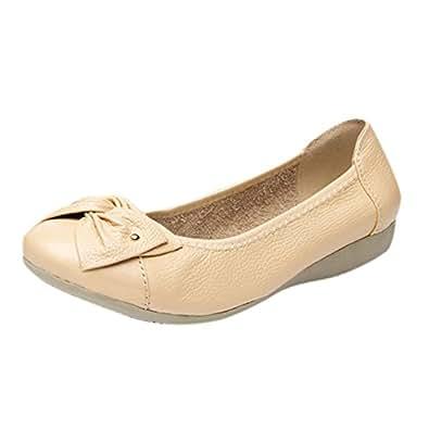 b49382764feb2 Image indisponible. Image non disponible pour la couleur   Frestepvie  Ballerines Plate Chaussure Bateau Femme Fille Flat Shoes Mode Simple  Confortable ...