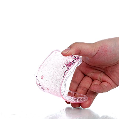 Protecteur étui pour iphone 7 Plus, Coffeetreehouse Housse souple Semi-transparent Bling TPU avec Absorption de Choc Etui Silicone Légère / Ajustement Parfait Coque Shell Housse Cover pour iphone 7 Pl Fleur diagonale