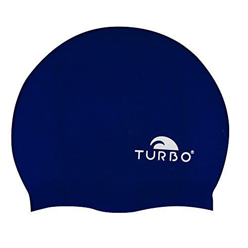 TURBO Badekappe dunkelblau aus Silikon Einheitsgröße