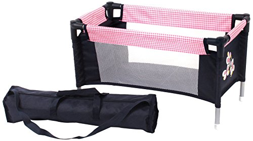 Bayer Chic 2000 652 46 - Puppen-Reisebett, pink checker (Reise-puppe Möbel)