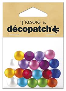Decopatch en acrylique 7 x 7 x 10 cm en plastique et rond uni 21, Lot de 20, multicolore