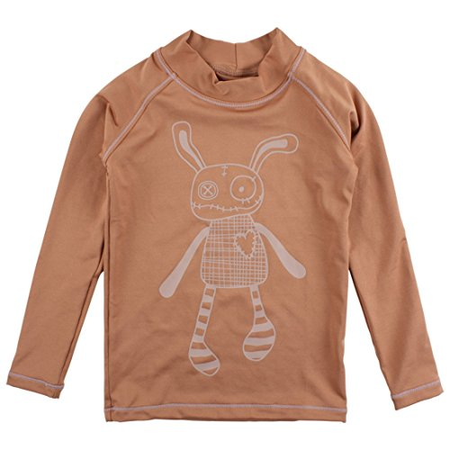 Small Rags Unisex Langarm Baby- und Kindershirt/Lycrashirt, 92% Polyester 8% Spantex, UV Schutz 50, Hellbraun, Gr. 86/92, Bay LS Top Mocha Mousse 60242 (Mädchen Mocha)