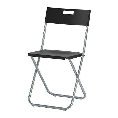 Silla Plegable Grunde de Ikea, Negro