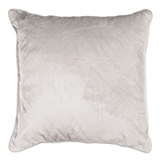 AHOME Romantic Homea Piping Plain Velvet Cushion Polyester 40 x 40 cm, polyester, linen, 40 x 40 cm