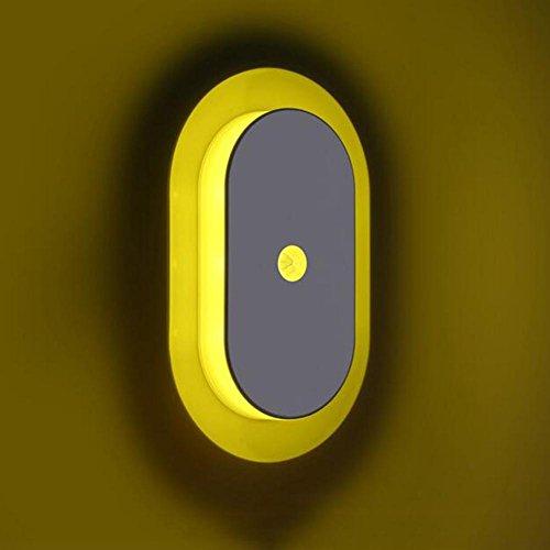 Nacht Licht Top (Lampe Lyy LED Human Body Induktion 3 * AA Batterie Intelligente Licht-Steuerung Baby Fütterung Kleine Nacht Licht Saugen Top Treppe Aisle Energie Licht, Yellow Light)