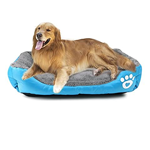 Dog Pet Bed Cushion Mat Pad, Soft Large Dog Cat Nest House Warm Cozy Waterproof Fall and Winterfor Large, Medium and Small Dogs, Fit Pets Weight Up to 33 Lb (L)